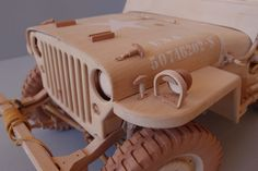 WILLYS MB JEEP model from wood scale 1/6 by KASSIANMODELS on Etsy