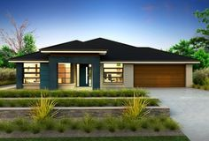 Single Storey Homes - Kentville 25 Contemporary House Plans, Modern House Plans, Clarendon Homes, Single Storey House Plans, Prairie House, Storey Homes, House Paint Exterior, Display Homes, New Homes For Sale