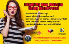 In this Live Wordpress Website Training Course you will learn how to use one of the easiest, most popular and practical website building tools available.