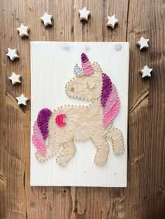 Décorations murales, Colorful unicorn wall decor est une création orginale de Good-Lights sur DaWanda