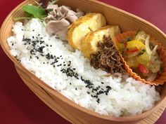 Steamed Pork & Paprika Marinade Bento