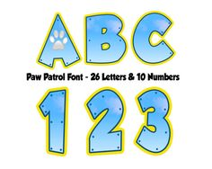 Paw patrol Font  Paw Patrol Letters  Paw by DDCustomPrinting