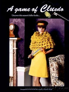 Colonel Mustard with the knife…Clue reimagined in Tatler magazine. Clue Games, Clue Party, Mystery Dinner, Valentine Day Crafts, Mustard, Stylists, Cosplay, Costumes, Magazine