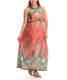 Another great find on #zulily! Red Paisley Maxi Dress - Plus by Shoreline #zulilyfinds