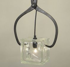 Ice Block Pendant by Conant Metal & Light   Please subscribe to my weekly newsletter at upcycledzine.com ! #upcycle