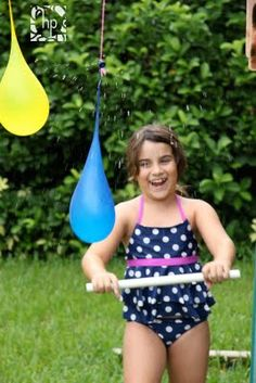 Water Balloon Pinata - fun and easy for a hot day.