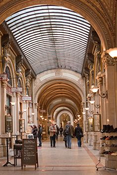 The Freyung Passage, in Vienna Austria is an elegant shopping arcade built in the 19th century as part of the Ferstel Palace. The arcade links the Herrengasse with Freyung, a triangular historic square.  #feelaustria
