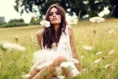 Actress Natalia Warner in a field of flowers Clapham Common, Earth Goddess, Beautiful People, Anna, Flower Girl Dresses, Photoshoot, Actresses, Couple Photos, Wedding Dresses