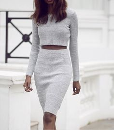 OUTFIT: http://www.glamzelle.com/products/dream-on-grey-knitted-midi-pencil-skirt-cropped-top-set
