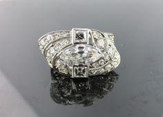 Ferro Jewelers - Estate Jewelry | Platinum Art Deco 2.25ctw diamond ring