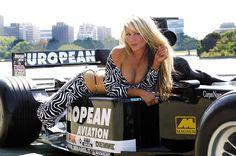 Australian Model Sarah Jane promoting European Minardi in Melbourne