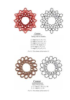ru / Фото - New Tatting Technologies 2 - mula Tatting Necklace, Tatting Jewelry, Lace Jewelry, Tatting Lace, Shuttle Tatting Patterns, Needle Tatting Patterns, Lace Patterns, Jewelry Patterns, Needle Tatting Tutorial