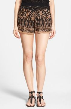 Junior Women's Angie Floral Print Shorts