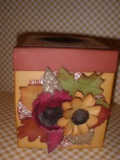 fall tissue box cover