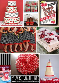 Blog Version Red White Black Cherry Polka Dot Wedding Inspiration & Stationery by In the Treehouse