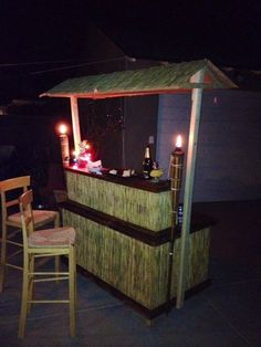Tiki Bar – Hand Crafted Tiki Bar Hand Crafted by BorboletaDecors on Etsy Related posts: diy tiki bar by above ground pool Outdoor Projects, Home Projects, Backyard Projects, Bar En Palette, Diy Außenbar, Outdoor Tiki Bar, Outdoor Bars, Tiki Bar Decor, Backyard Bar