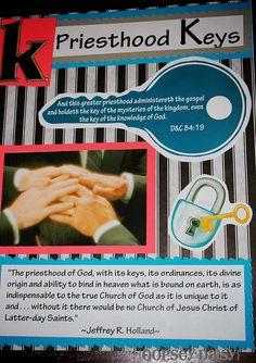 K is for priesthood Keys