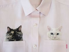 What started in 2013 as a quirky attempt to immortalize famous internet cats on clothes by embroidery artist Hiroko Kubota, has now transformed into a full-fledged custom clothing line where people can request embroideries of their favorite pets on her own brand of shirts, Go!Go!5. The project b