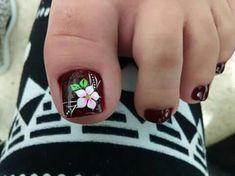 Pedicure Nail Art, Toe Nail Art, Mani Pedi, Girls Nail Designs, Toe Nail Designs, Flower Pedicure Designs, Cute Toe Nails, Girls Nails, Autumn Nails