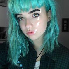 Im Ur Problematic Fav჻ 。⋆ ( Green Hair, Blue Hair, Xoe Arabella, Emo, Indie, Coloured Hair, Punk, Dye My Hair, Kawaii