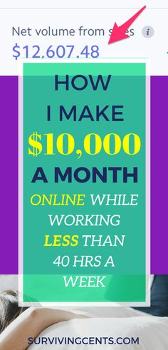 Wondering how you can make money online without working long hours? This is how I make $10,000 a month and work less than 40 hours a week.