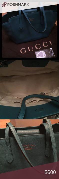 Pretty Gucci Swing Bag Pretty swing bag, teal color. Used couple times. So pretty. Gucci Bags Totes