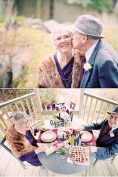 oh dear Lord...this is my life in 54 years. Still trying to have all these fun photo shoots. lol A beautiful photoshoot celebrating this couple's 55 years and the picnic they held to celebrate it. :)