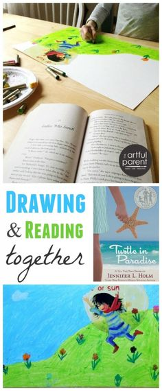 Reading Time and Drawing with Kids can go hand in hand