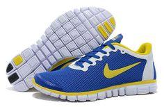 Nike Free 3.0 V2 Men Shoes Royalblue Lemon Yellow
