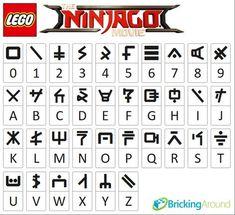 The Ninjago Alphabet (How would you even type any of those out on an electronic? Ninjago Party, Lego Ninjago Movie, Lloyd Ninjago, Geocaching, Monster Super League, Alphabet Code, Ninjago Memes, Legos, Lego Lego