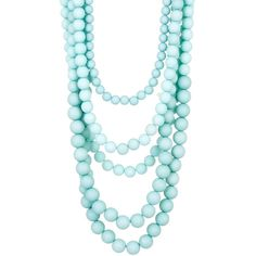 Madison Parker Five Row Beaded Necklace ($20) ❤ liked on Polyvore featuring jewelry, necklaces, mint, wood bead necklaces, adjustable necklace, mint necklace, multi layered beaded necklace and layered bead necklace