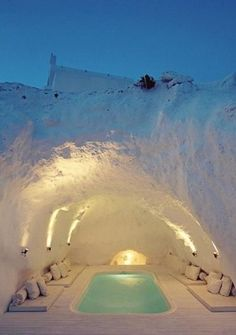 Spa Cave, Santorini, Greece