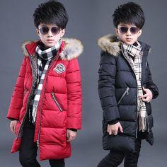 134.85$  Watch now - http://aliygn.worldwells.pw/go.php?t=32755402616 - 7 8 9 10 11 12 13 14 15t Boy Parka Winter Jackets For Boys Teenagers Big Size Boy Coat Warm Cotton Kids Clothes Manteau Garcon