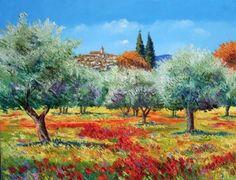 oliviers  | Les oliviers - Jean-Marc JANIACZYK, peinture au couteau