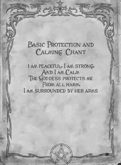 Protection and calming chant