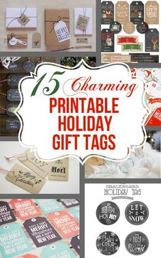 Christmas DIY: Illustration Description 15 Charming Free Printable Gift Tag Sets that you won't believe. Christmas Tags Printable, Free Printable Gift Tags, Holiday Gift Tags, Christmas Gift Wrapping, Holiday Fun, Free Printables, Christmas Presents, Holiday Cards, Holiday Ideas