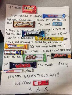 My chocolate bar valentines card to my man ❤️