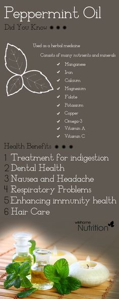 Health benefits of peppermint oil:Being native to Europe, peppermint has been long used as a herbal medicine. Check out 6 amazing benefits of peppermint oil