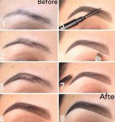 how to draw on eyebrows properly