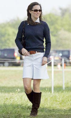 63fabf952585 Zara Woman White Denim Jean Tennis Skirt William Kate, William And Son,  Kate Middleton