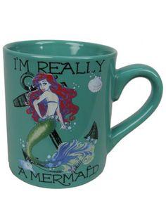 """""""Little Mermaid Ariel"""" Mug (Aqua) #InkedShop #mermaid #Mug #cup"""