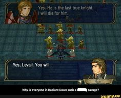 Fire Emblem radiant Dawn funny