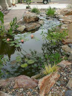 Backyard Water Feature, Ponds Backyard, Garden Ponds, Koi Ponds, Backyard Ideas, Pergola Ideas, Backyard Waterfalls, Potager Garden, Diy Garden