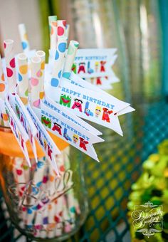 Rainbow /Muppets Birthday Party Ideas | Photo 5 of 45 | Catch My Party