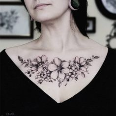 An excellent collection of delicate flower tattoos by Diana Severinenko to inspire your creativity.