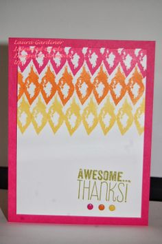 """""""Eye-catching Ikat"""" from Stampin' Up!  Photopolymer stamps."""