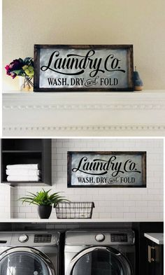 Laundry Room Sign Laundry Sign Laundry Room Decor Laundry Co Wash Dry Fold Sign Farmhouse Decor Fixer Upper Sign Wood And Metal Sign Laundry Decor, Laundry Room Signs, Laundry Room Storage, Laundry Rooms, Laundry Organizer, Mud Rooms, Interior Design Living Room, Living Room Decor, Country Farmhouse Decor