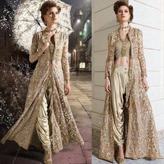 You could edit this design. Mainly look at the dhoti-esque pants