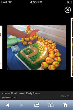 Cool party cake ideas for softball
