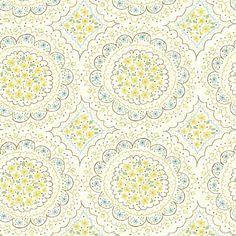 floral_circles_cream fabric by stacyiesthsu on Spoonflower - custom fabric